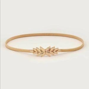 Leaf Buckle Skinny Belt NWT